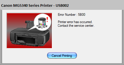 Canon MG5340 Error 5B00 [Solved] | Canon Printer ink absorber
