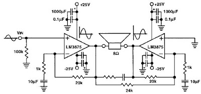 Circuit Wiring Solution: LM1875 80W audio power amplifier