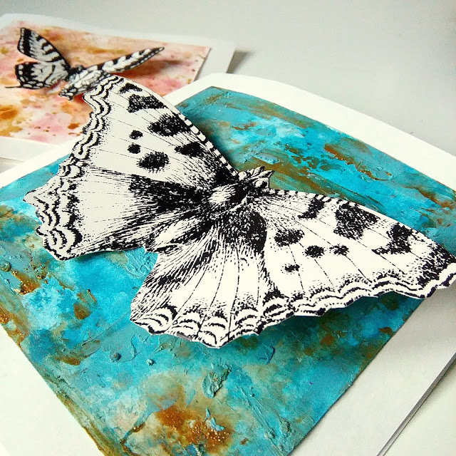 card with moth