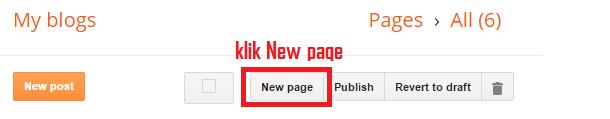 tampilan menu new page