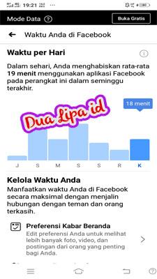 Silahkan lihat dulu berapakah waktu yang kamu gunakan untuk facebook