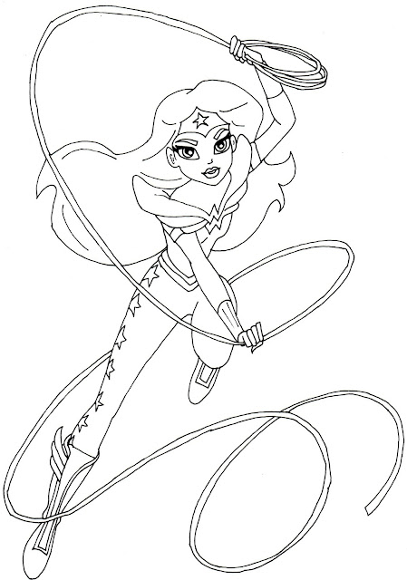 free printable super hero high coloring page for wonder woman - Coloring Pages Girl Superheroes