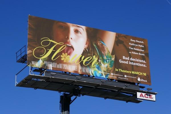 Flower movie billboard