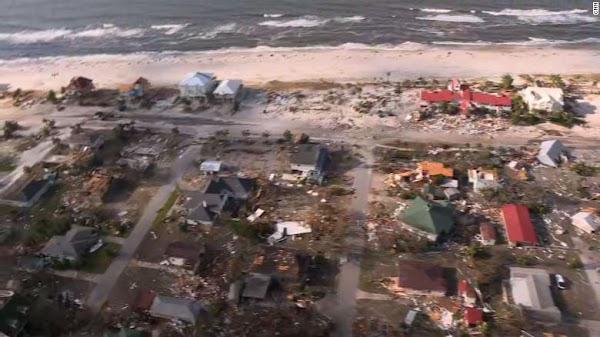 ( VIDEO ) Devastadoras imágenes después del paso del huracán michael.
