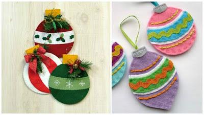 Comparte manualidades ideas para decorar y hacer bolas - Bolas de navidad de fieltro ...