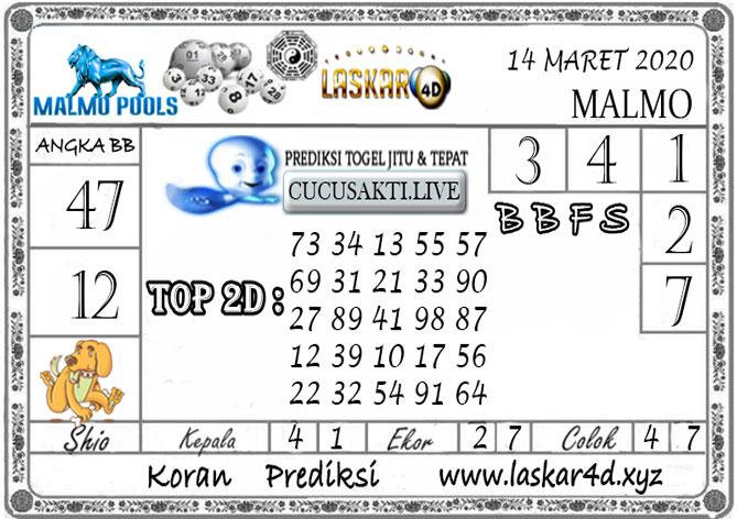 Prediksi Togel MALMO LASKAR4D 14 MARET 2020