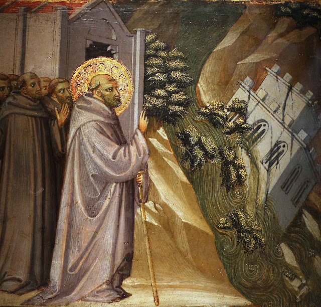 Milagre de São João Gualberto. Bicci di Lorenzo ( (1373–1452), col. part.