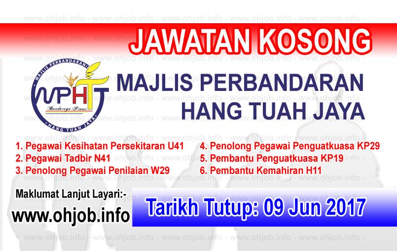 Jawatan Kerja Kosong MPHTJ - Majlis Perbandaran Hang Tuah Jaya logo www.ohjob.info jun 2017