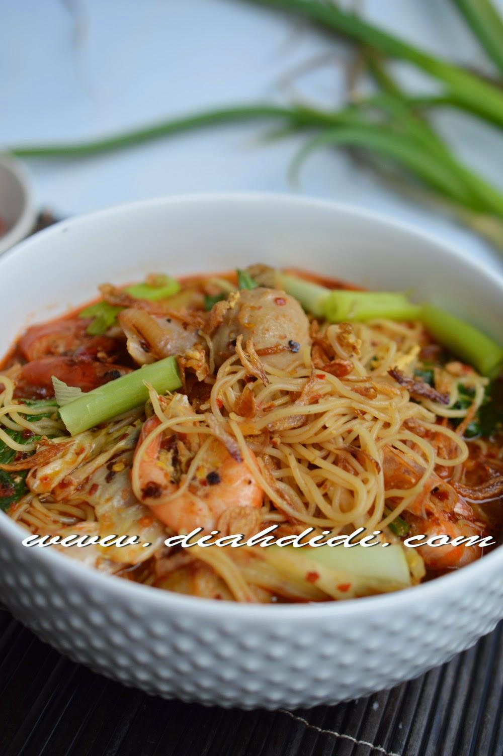 resep masakan bihun goreng pedas resep manis masakan indonesia Resepi Mee Hoon Goreng Singapore Azie Kitchen Enak dan Mudah