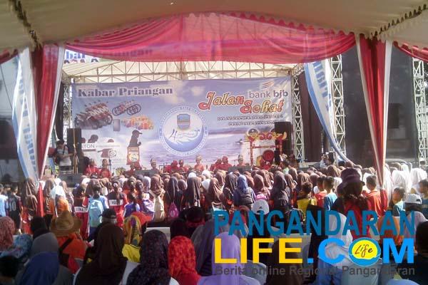 acara jalan sehat di Kabupaten Pangandaran