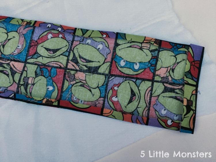 DIY burp cloth fabric prep