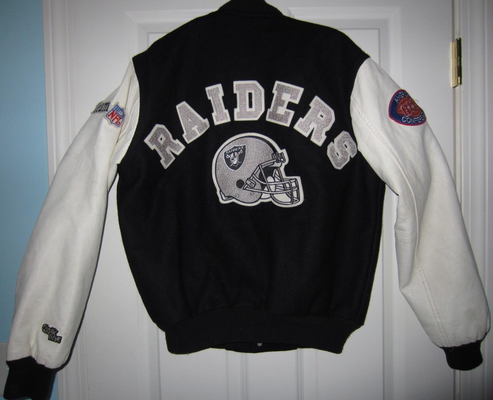 e93c8d9b Vintage Chalk Line Raiders Letterman Varsity Jacket Size M - SOLD ...