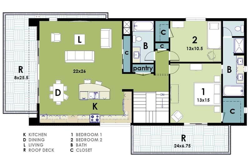 Planos y fachadas de casa habitaci n estilo minimalista for Planos de casas medianas