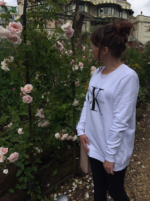 Calvin Klein Jumper from Tessuti, Calvin Klein Jumper, Tessuti, Calvin Klein, Jumper, roses, vintage, floral, outfit, ootf