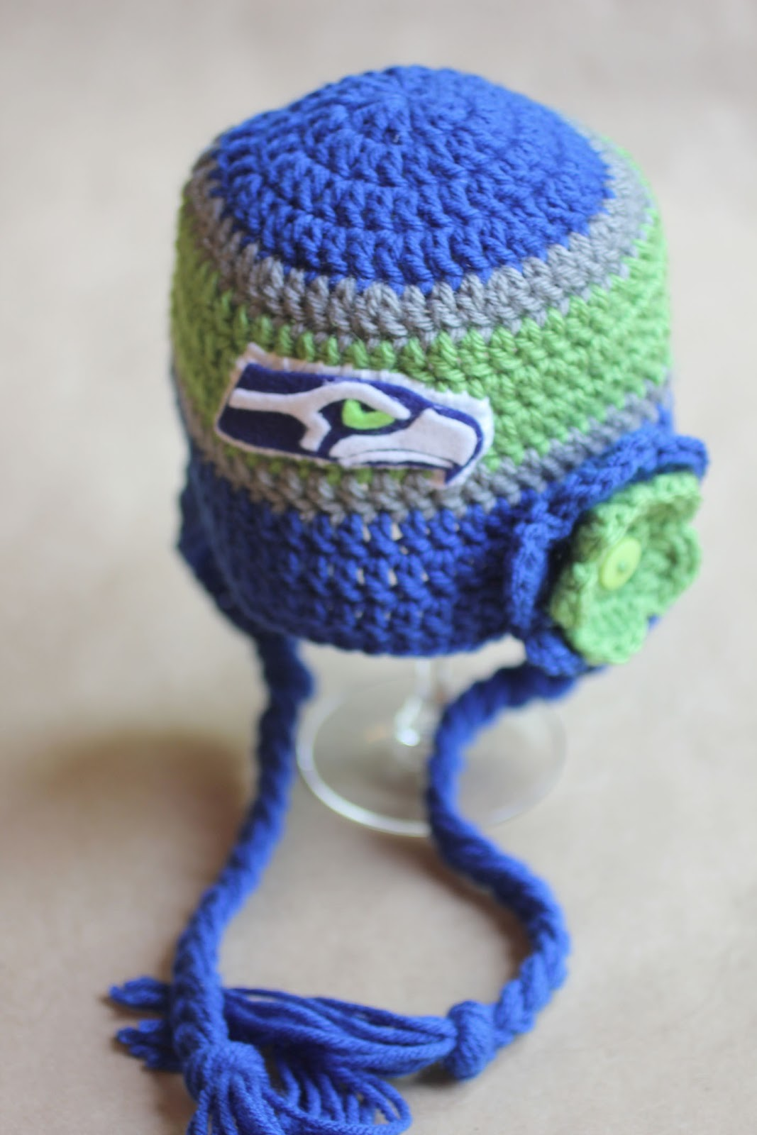 Crochet Seattle Seahawks Hat Repeat Crafter Me