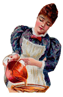 baking pie dessert woman image victorian kitchen clipart download