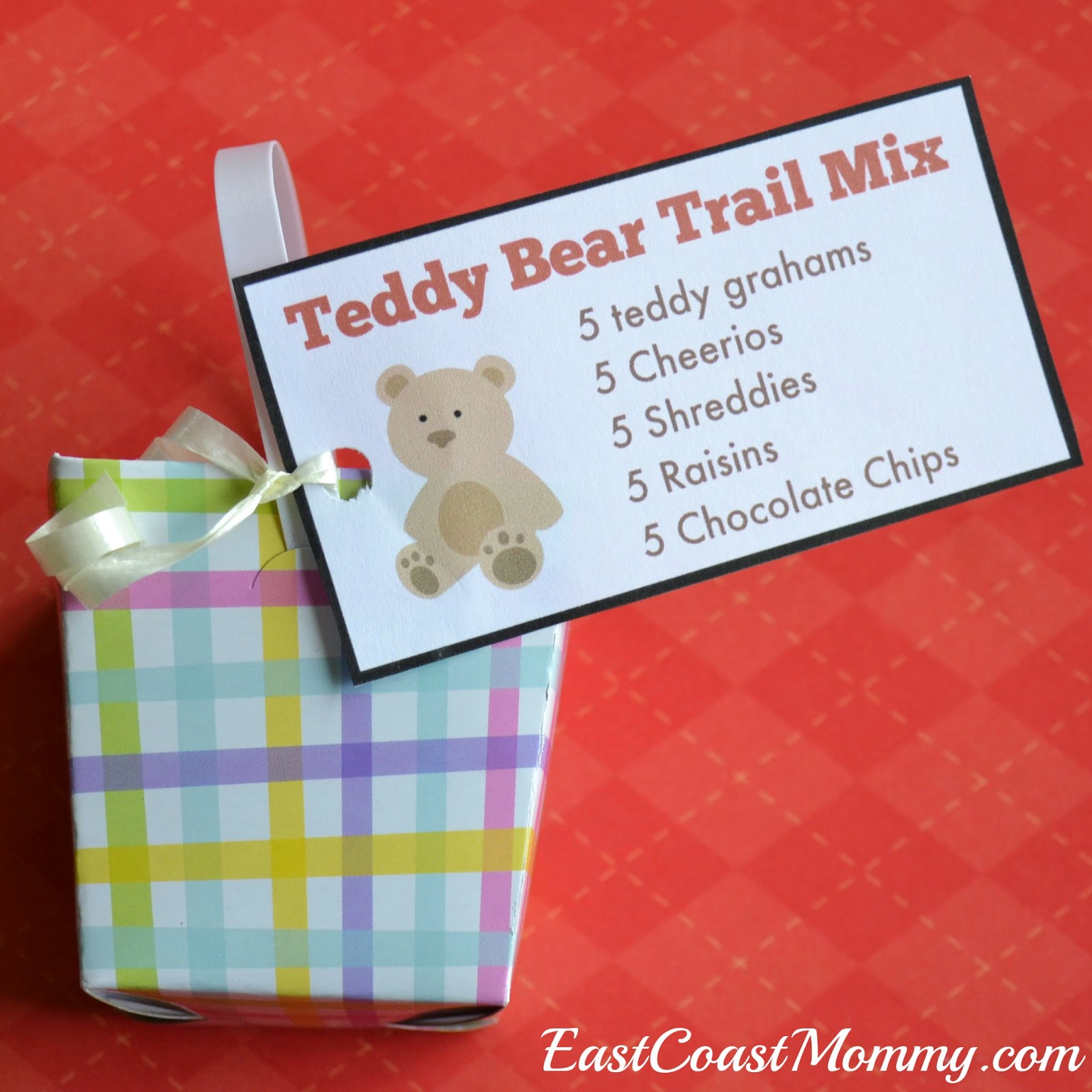 East Coast Mommy Number Crafts Number Five Teddy