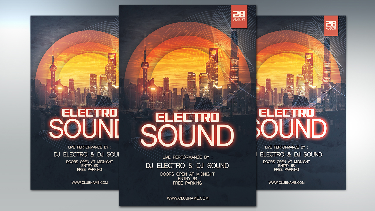 Create a Electro Sound Party Flyer In Photoshop