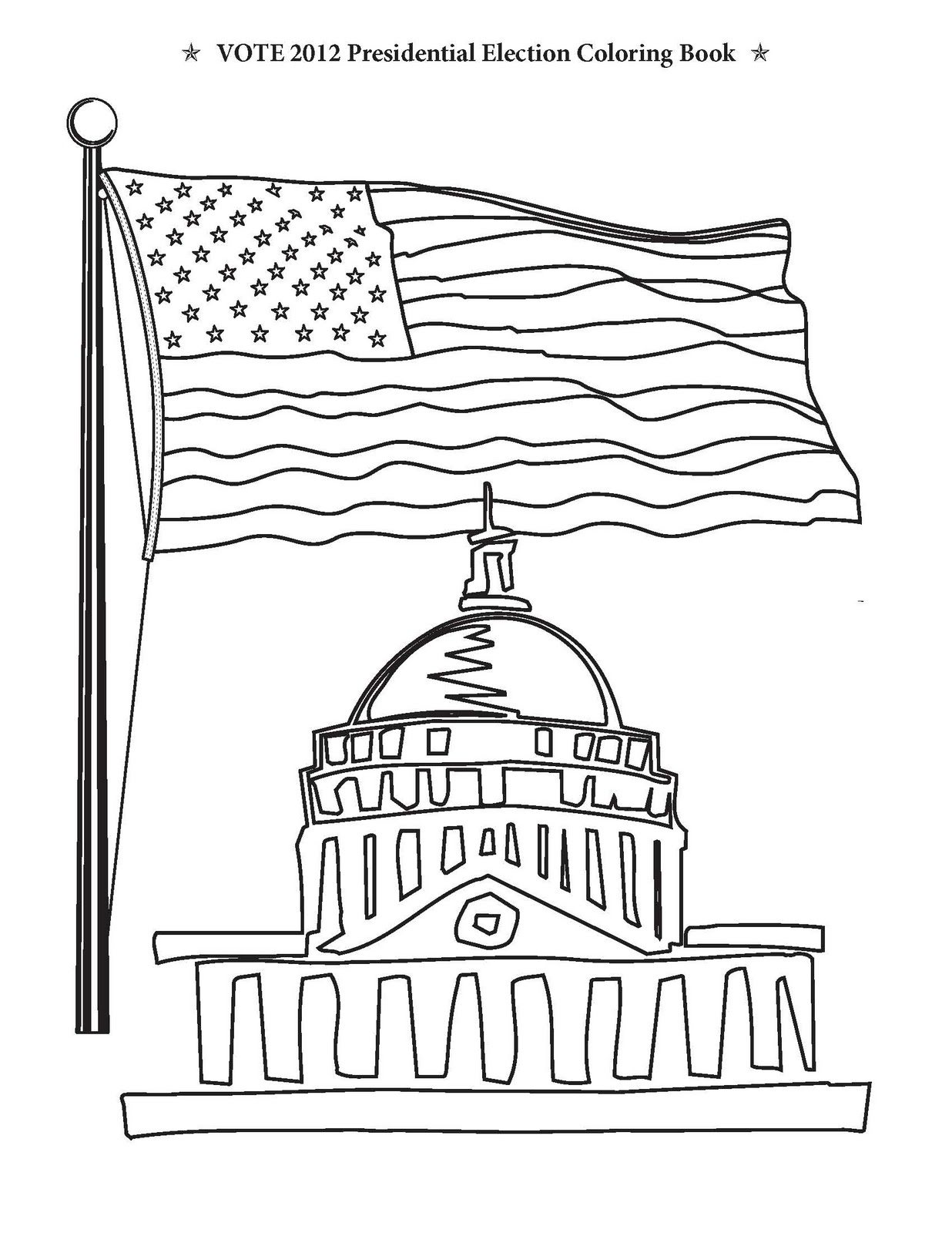 Vote 2012 Presidential Election Coloring Book November 2011