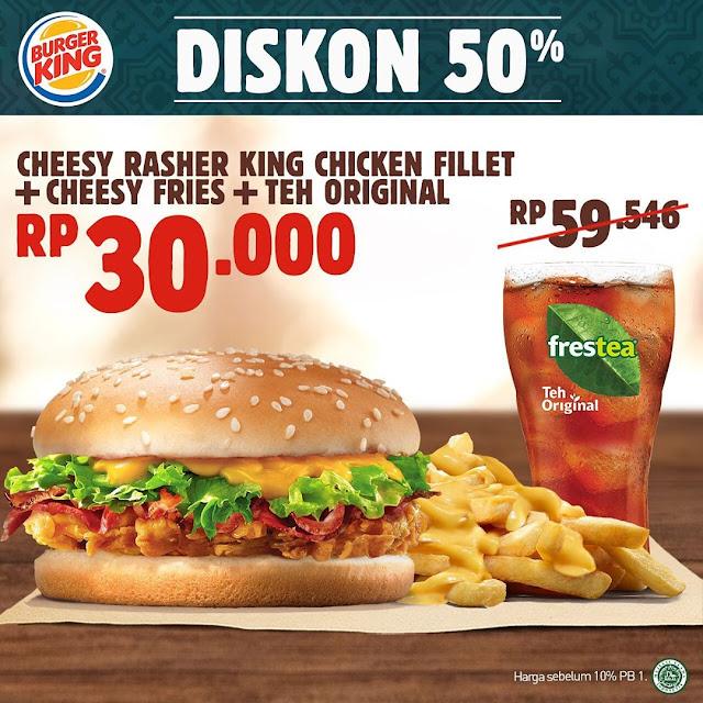 #BurgerKing - #promo Kupon Diskon Mei Dine In, Take Away, & Drive Thru (s.d 30 Juni 2019)