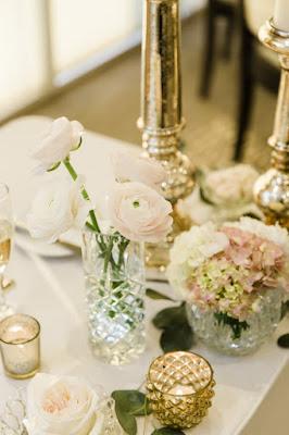 light pink table decor
