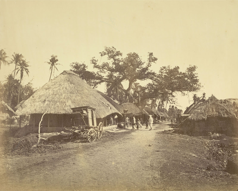 Scenery in a Village at an Unidentified Location in Bengal - 1865
