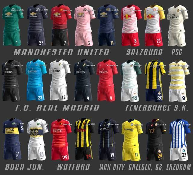 Mini Kitpack Season 2018-19 PES 2013