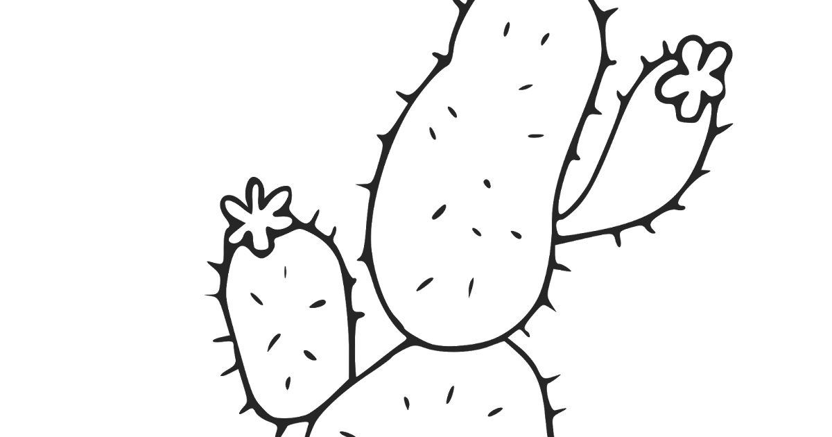 Cactus coloring pages and printables