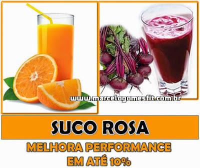 Suco Rosa - Melhora performance em até 10%