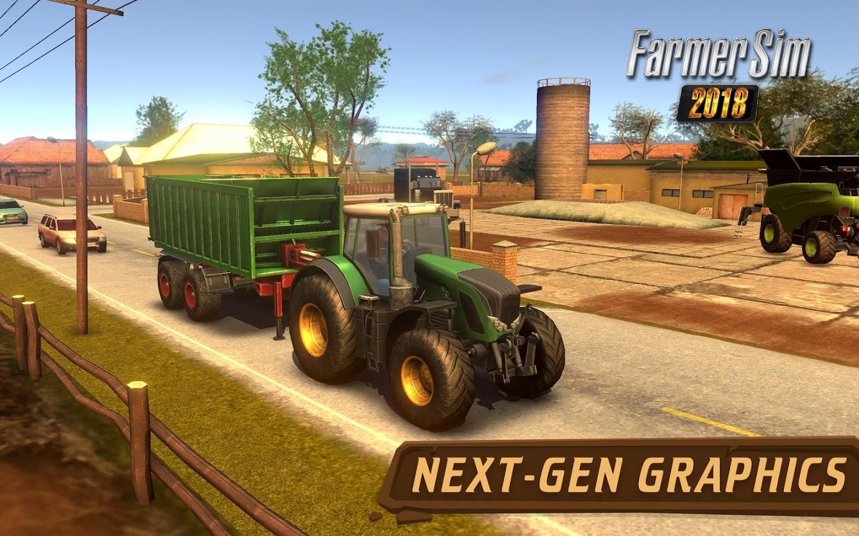 Farmer Sim 2018 MOD APK terbaru