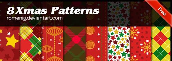 Efeito Photoshop: Beautiful Christmas Patterns