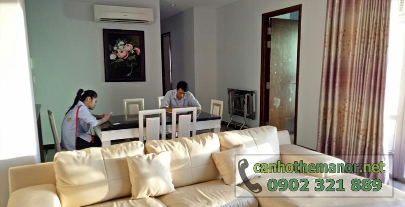 căn hộ cao cấp ở khu the manor tại tp hcm - sofa tại phòng khách