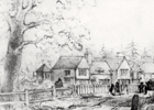 Sketch of Moffats farmhouse by Faithfull c 1840s. Image from the NMLHS