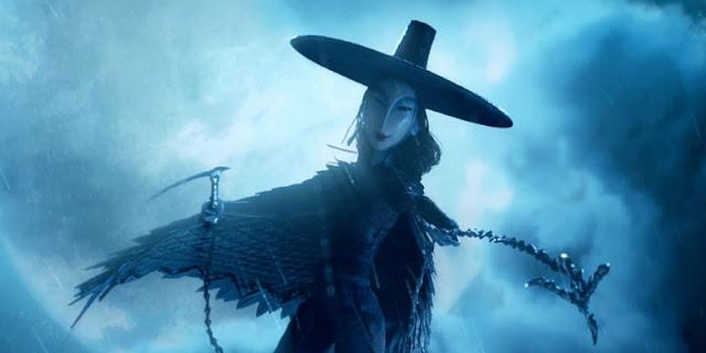 Les méchantes tantes de Kubo sont des sorcières dans Kubo et l'armure magique, de Travis Knight (studios Laïka, 2016)