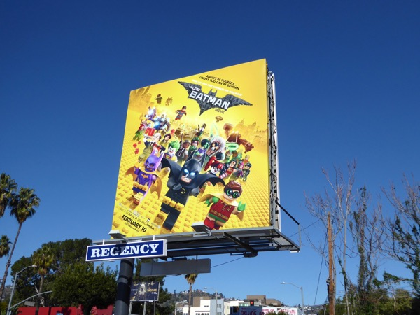 Lego Batman film billboard