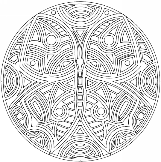 coloring pages detailed butterfly - photo#6