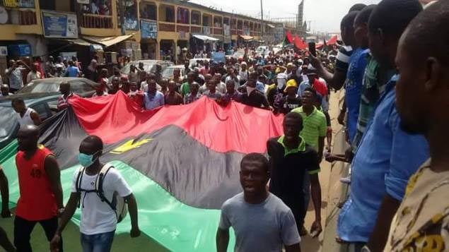 """IPOB says """"heaven will fall"""" as group holds Port Harcourt rally for Donald Trump"""