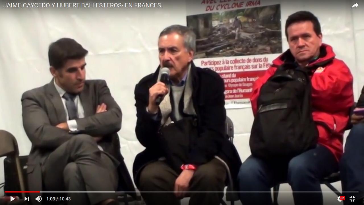 Jaime Caycedo y Hubert Ballesteros- en francés.