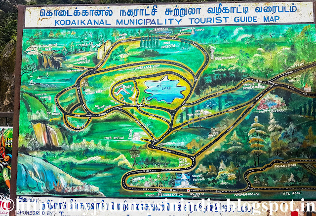 Kodaikanal Tourist Map