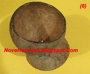 langkah-langkah dan cara membuat kerajinan tangan wadah multigunan dari batok (tempurung) kelapa yang sangat mudah untuk anak-anak 8