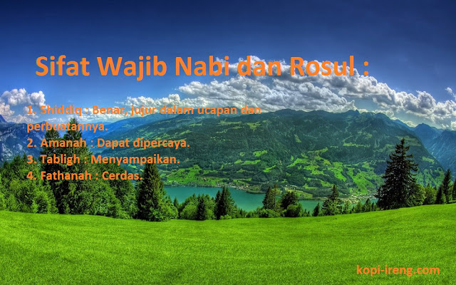 4 Sifat Wajib Nabi dan Rosul