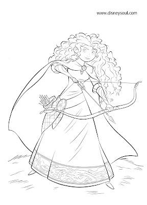 """Disney Soul: Dibujos para colorear de """"Brave (Indomable"""