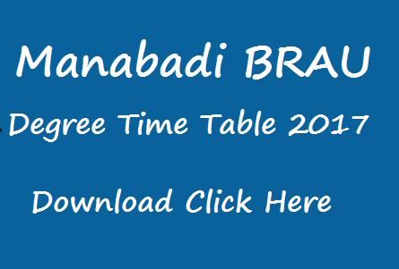brau degree exam time table 2017 manabadi