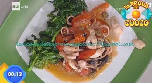 Moscardini affogati con broccoli saltati ricetta Bertol da Prova del Cuoco