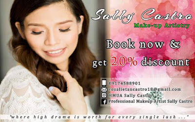 Pre Bridal Fair Discount from Sally Castro Make up Artistry