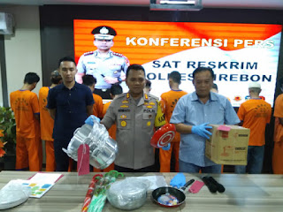 Polres Cirebon Ungkap 4 Kasus Kejahatan Dengan Sembilan Pelaku