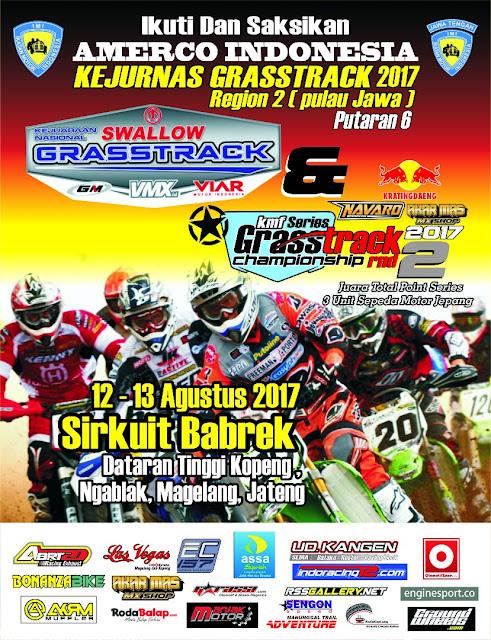Kejurnas Grasstrack 2017 Region 2 Putaran 6 Dan KMF Series 2 Grasstrack Championship 2017, Magelang, 12 - 13 Agustus 2017