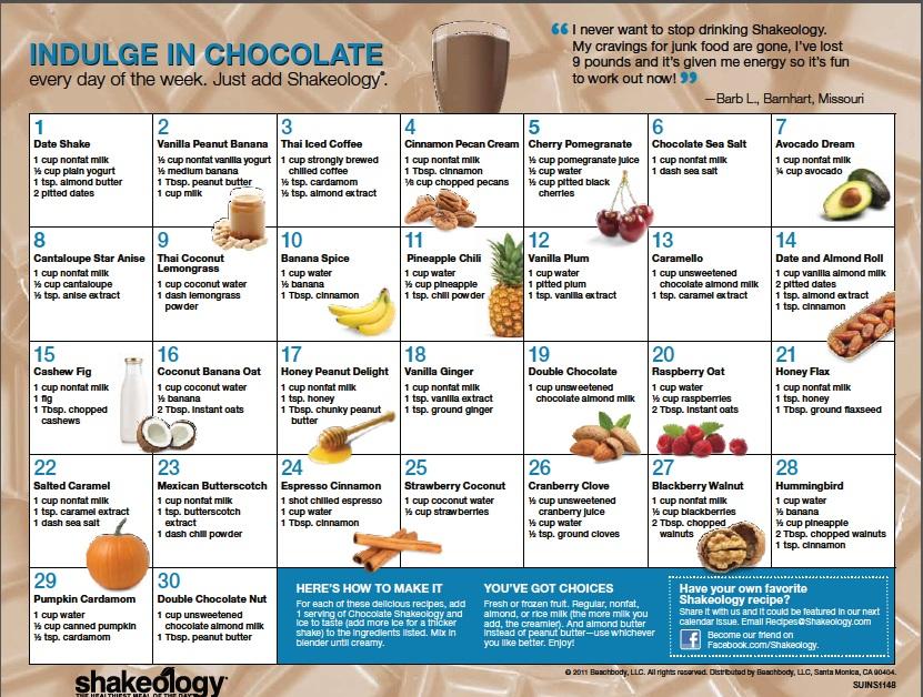 shakeology smoothie chocolate flavor ideas