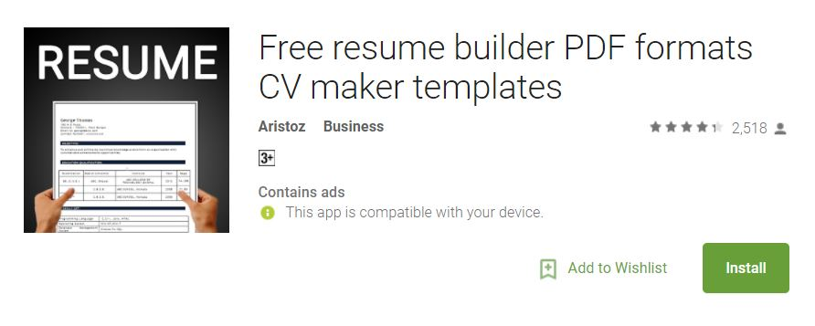 free resume builder with latest 30 resume templates suitable for various jobs this is the first resume app with more resume formats - Free Resume App