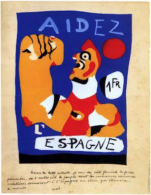 Resultado de imagen de blogspot, Joan Miró,  Aidez l'Espagne (1937).